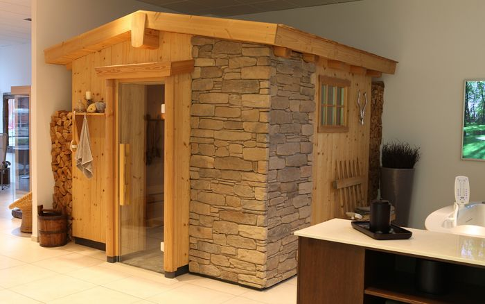Sauna en Wellness, showroom Berlijn: Cottage-sauna