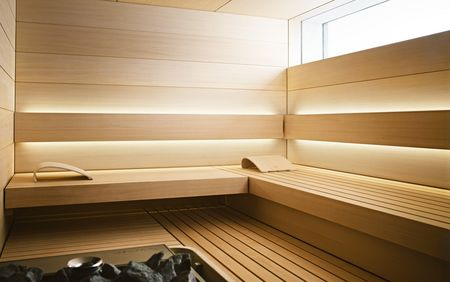 Interieurinrichting van de SHAPE sauna